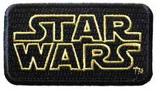 Star Wars Yellow Outline Logo Embroidered Patch