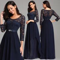 Ever-Pretty Elegant Lace Long Bridesmaid Gowns A Line Chiffon Evening Dress 7716