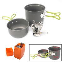 Portable Gas Camping Stove Butane Propane Burner Outdoor  Picnic Cookware Set