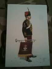 Military Postcard Trumpeter Royal Hussars POW 1991 by Alix Baker