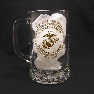 USMC Marine Corps Wounded Warrior Glass Stein Birthday Ball