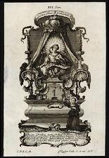santino incisione1700 B.GRAZIA del 3° ordine dei minimi   klauber