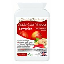 Apple Cider Vinegar Complex. Weight Management & Digestive Health with Turmeric.