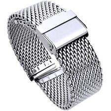 20mm Stainless Steel  Mesh Milanese Watch Band Bracelet color silver