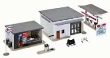 MPC HO Scale Mike's Esso Gas Station, Auto Supply, Car Wash 3 Buildings 1Kit