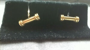 A 9ct 375 Solid Yellow Gold Pair of Cufflinks