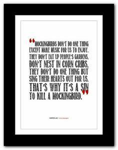 HARPER LEE  To Kill a Mockingbird ❤ typography book quote poster print #80