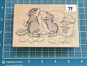 House Mouse Stamp, Rubber Stamp Wood Stamp Sticky Situation #79