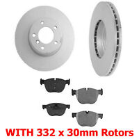 2 34312 With Ceramic Pads Fits For 08-13 128i Disc Brake Rotor Front