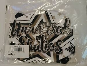 Universal Studios White w/ Stars Print Face Mask Medium