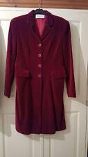 Claret / Ruby Red Cotton Velvet Unisex Frock Coat UK12 - Great Condition