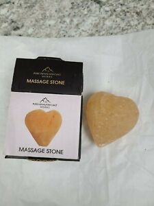 Pure Himalayan Salt Works Heart Shaped Massage Stone Cleansing  New