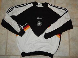 GERMANY    RETRO VINTAGE SWEATSHIRT ADIDAS RARE WORLD CUP SHIRT 90'S!