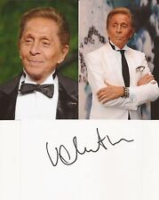 CLOTHING DESIGNER: VALENTINO GARAVANI SIGNED 6x4 WHITECARD+UNSIGNED PHOTOS+COA