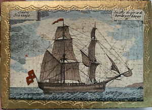 Vintage Small Florentine Gilt Hinged Jewelry Trinket Box Sailing Ship ITALY