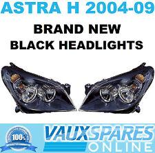 ASTRA H PAIR BLACK HEADLIGHTS HEADLAMPS OFF + NEAR SIDE SXI SRI CDTI VAN HATCH