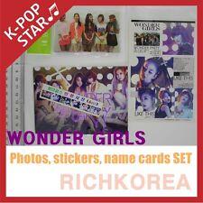 Wonder Girls Wonder Party K-POP Name cards + Photos + stickers set Memorabilia