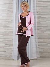 Umstandsschlafanzug Stillschlafanzug br - 3 Teile -  Gr. 36      NEU