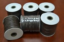6 ROLLS - 600 METERS BROWN WAXED COTTON BEADING CORD STRING ROLL 2MM #F-52J