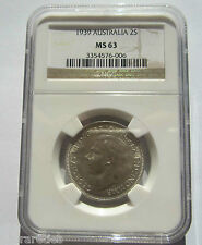 1939 Florin. Quality Uncirculated NGC MS63 - A must have for a set!  KEY DATE#