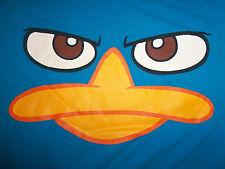 Disney Phineas & Ferb Cartoon Show Blue Graphic T-Shirt - L