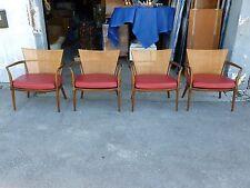 Rare 4 Bert England For Johnson Furniture Mid Century Modern Lounge Chairs