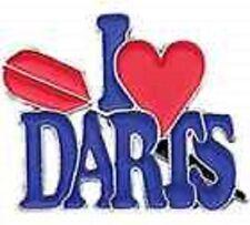 "DARTS BADGES COLLECTION-METAL "" I LOVE DARTS """