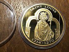 MEDAILLE HISTOIRE DE FRANCE SAINT LOUIS 1214-1270 (183) SOUS CAPSULE