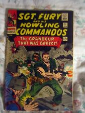 1 COLLECTABLE MARVEL 1966 SILVER AGE SGT FURY AND HIS HOWLING COMMANDOS # 33