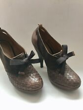 Kurt Geiger Woven Brown Leather Shoe Boots