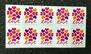 2019USA #5339 Forever - Love Heart Blossoms - Block of 10  postage