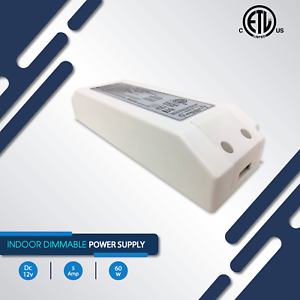 Power Supplies, 5A, 60W DC 12V IP20 Indoor, Dimmable