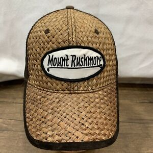 Mount Rushmore straw & mesh hat cap brown American Needle Quality Headwear snap