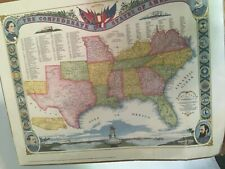 1863 George B. Kirchner Map of CONFEDERATE  Southern States