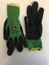 Package  of 3 John Deere Men's Nitrile Coated Gloves Black/Green Large  **new**