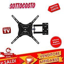 SUPPORTO STAFFA PARETE MURO TV LCD TFT LED PLASMA DA 14'' 55'' POLLICI NUOVO NEW