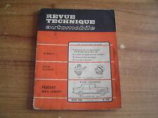REVUE TECHNIQUE RTA PEUGEOT 404 / 8 CONFORT évolution 404 / 9 de 1967 à 1968