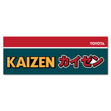 Kaizen Efficiency for Toyota JDM Sticker Vintage Decal JDM 1980 1970 Retro #1...