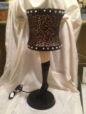 Leg High Heel Boots Spikes Cheetah Print A CHRISTMAS STORY Lamp Bar SEXY