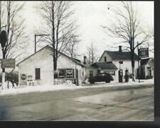 "c1950 MORRIS GROCERIES & GAS Station Detroit Michigan Postcard 5.5"" x 4.25"""
