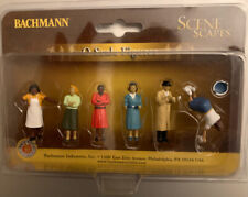 NEW Bachmann O Scale Sidewalk People SceneScapes Train Figures FAST Shipping