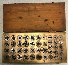 Vintage Die Set Custom Box Tap Threading Tool Metalworking Nice 40 Piece Cnc