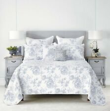 Elaine Coverlet Set by Bianca | Intricate Embroidery | fits Queen or King