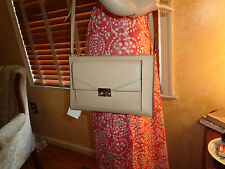 NWT TORY BURCH T Lock ColorBlock MINI CrossBody Toasted White  $295 Dustbag