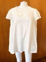 Target-White Cotton Peasant Top-Size 14