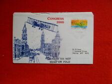 Congress 2000 Postally Used Souvenir Cover Sapc