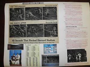 HARVARD-YALE FOOTBALL-''THE GAME''-NOV.23,1968- HARVARD BEATS-YALE POSTER 29-29