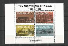 ZIMBABWE 1980 POST OFFICE SAVINGS BANK MINISHEET SG,MS601 UN/MM NH LOT 863A
