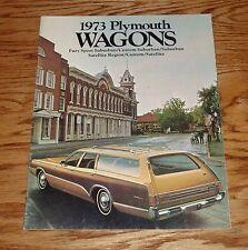 Original 1973 Plymouth Station Wagon Sales Brochure 73 Satellite Fury Sport