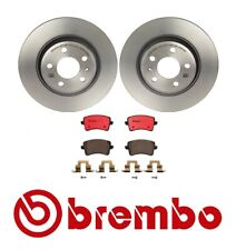 Set of 2 Rear Disc Brake Rotors with Ceramic Brake Pads Brembo For Audi A4 A5 Q5